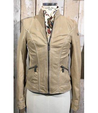 Milestone Ecru leather jacket Vera