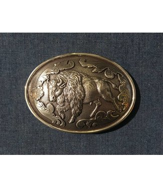 Nocona Belt Company Silver colored buckle with buffalo