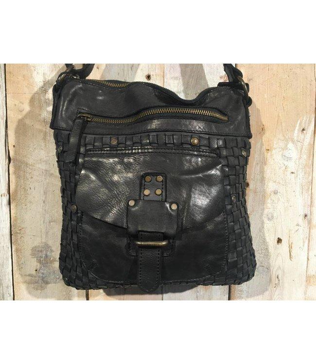 Harbour 2nd Black leather bag Aurora