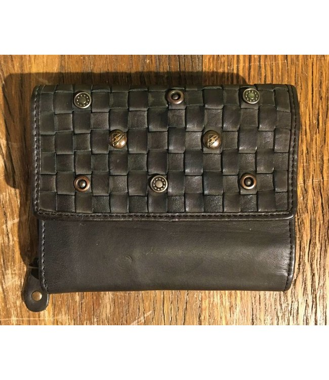 Harbour 2nd Square black leather wallet Yvonne