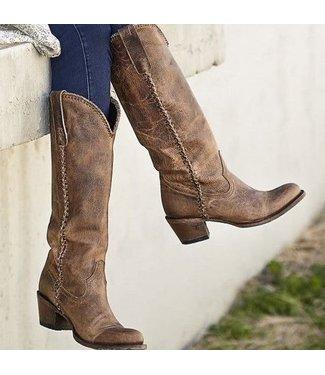 Lane High brown feminine western boot