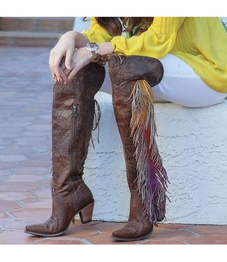 Junk Gypsy Spirit Animal over-the-knee cowboyboot