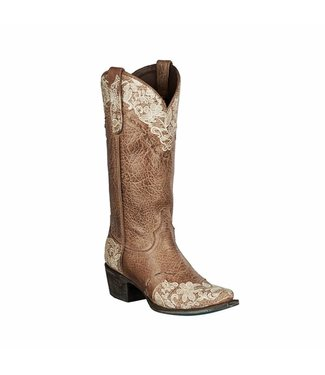 Lane Light brown leather western boots
