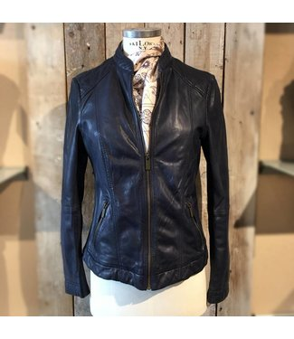 Milestone Dark blue leather jacket