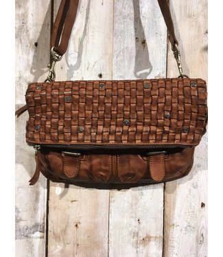 Harbour 2nd Brown braided leather bag Philipine