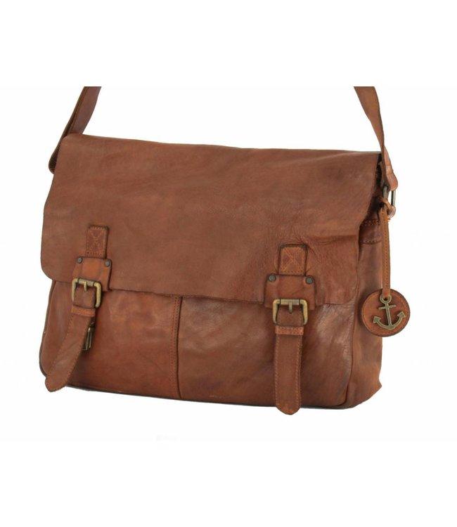 Harbour 2nd Cognac leather A4 bag