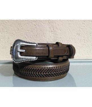 Nocona Belt Company Bruine smalle leren riem
