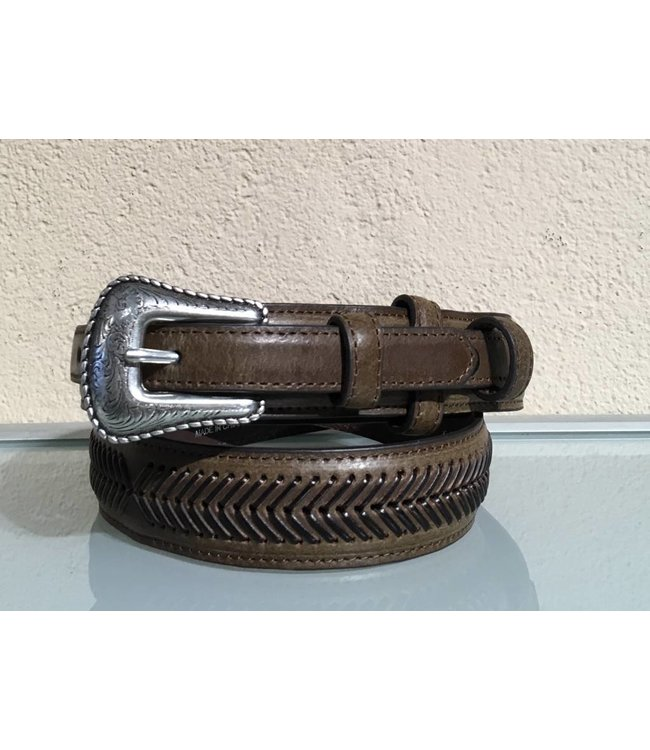 Nocona Belt Company Brauner schmaler Ledergürtel