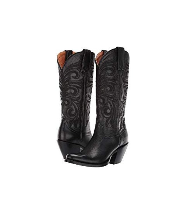 Lucchese 1883 Black  leather feminine cowboy boot