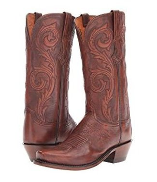 Lucchese Brown leather western boot