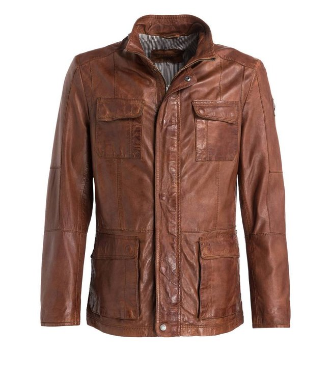 Milestone Cognac leather jacket
