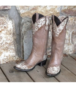 Lane Cowboy boot brown leather