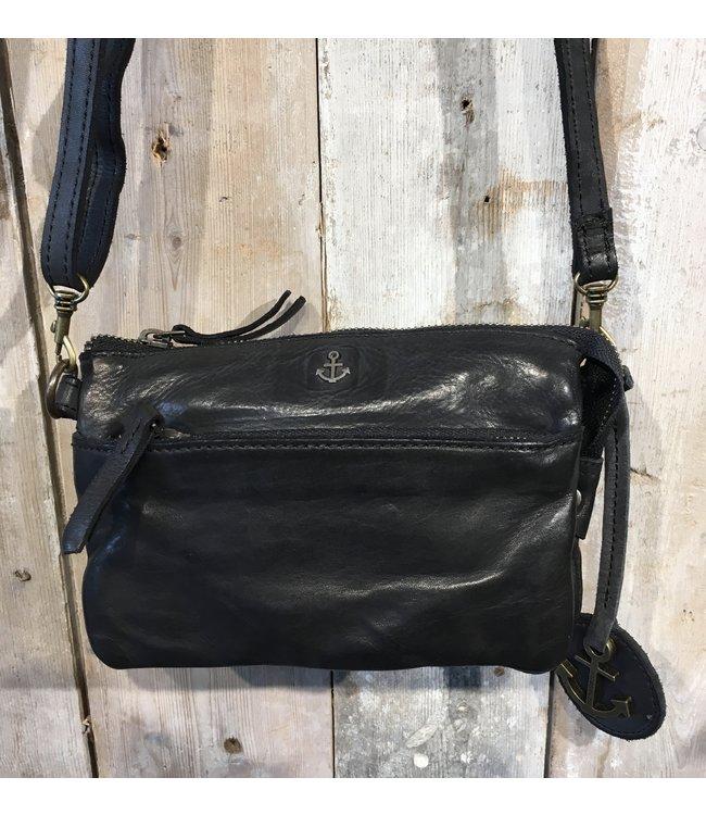 Harbour 2nd Black leather bag Perla
