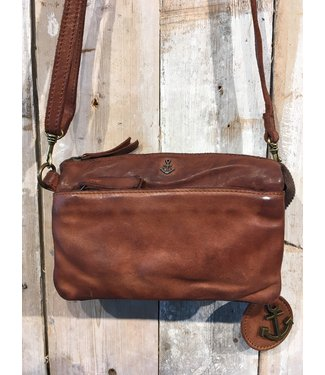 Harbour 2nd Brown leather bag Perla