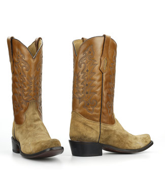 Corral  Light brown suede western boot