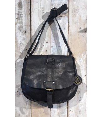 Harbour 2nd Black leather saddlebag