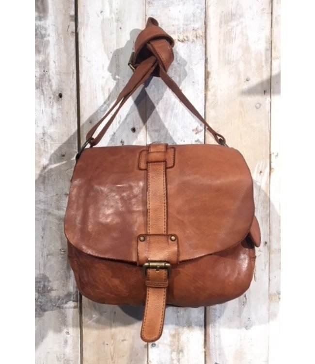 Harbour 2nd Brown leather saddlebag  spacious model