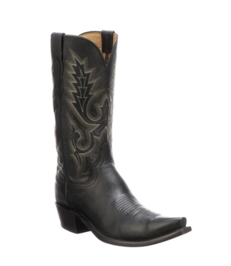 Lucchese Black leather western boot