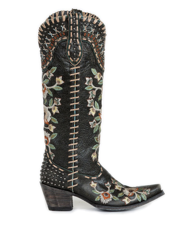 ad0a352da02 Leather Western Boots | Old Gringo | Light grey with retro detail