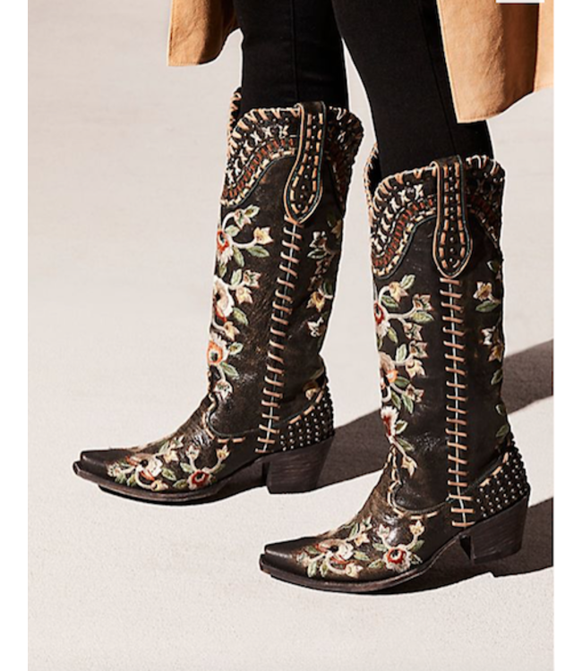Old Gringo- Double D Ranch High western boots with embroidery