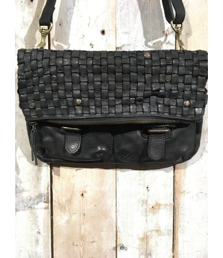 Harbour 2nd Black braided leather bag