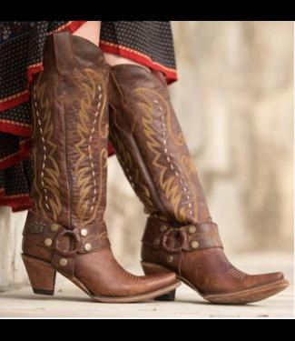 Junk Gypsy Hoge bruine leren westernlaars