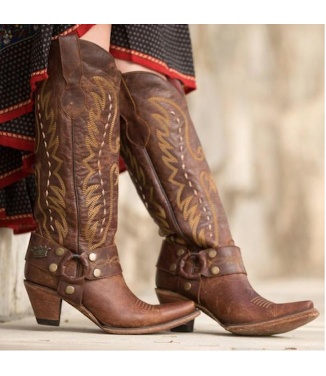 Junk Gypsy Tall brown leather western boot