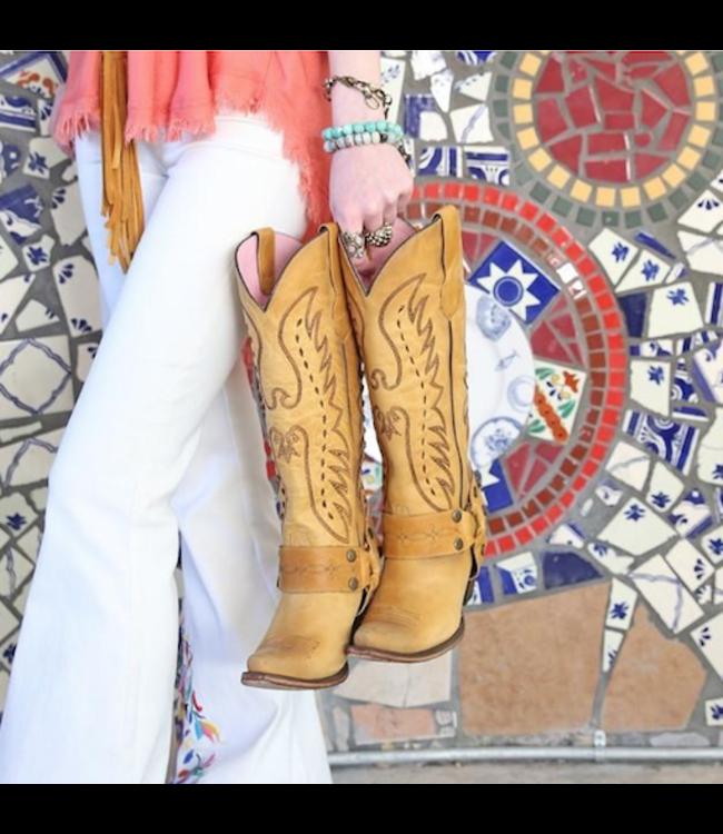 Junk Gypsy Hoge gele leren westernlaars