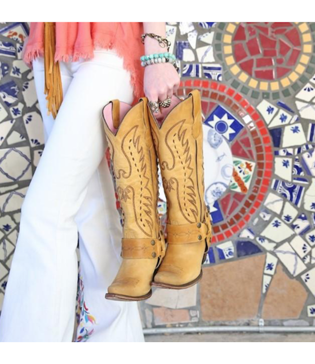 Junk Gypsy Tall yellow leather western boot