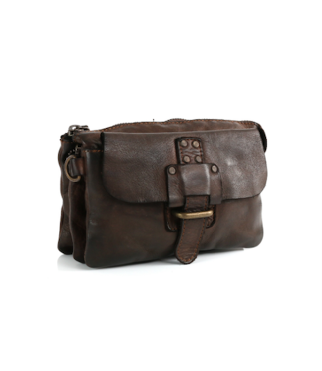 Harbour 2nd Black leather bag with compartments Luna