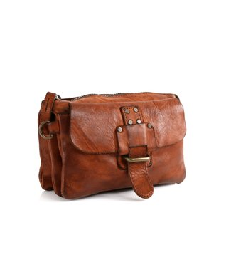 Harbour 2nd Brown leather bag with compartments Luna