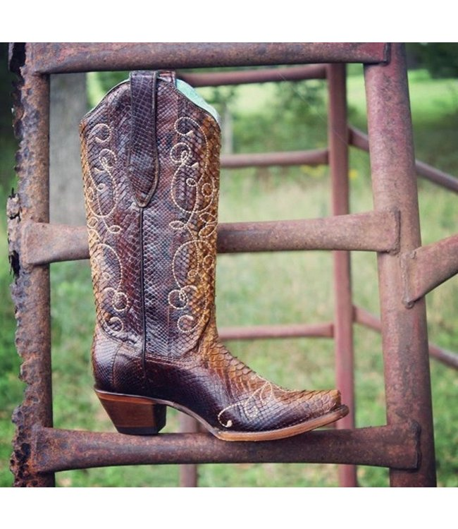 Corral  Python leather cowboy boots