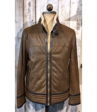 Milestone Bold brown leather jacket