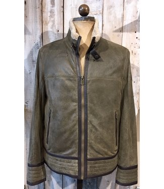 Milestone Bold green leather jacket