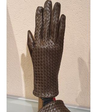 Kessler Olijfgroene leren handschoen