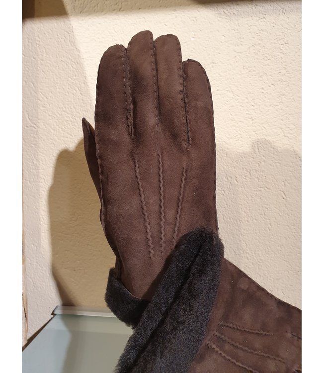 Kessler Dark brown leather glove