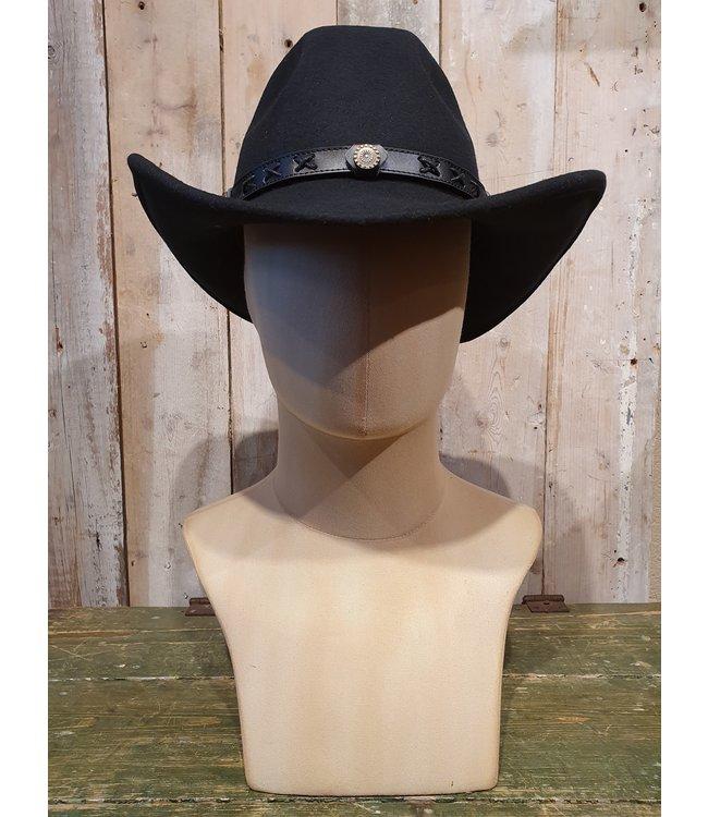 Twister Black western hat