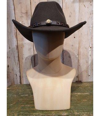 Twister Dunkelbrauner Cowboyhut