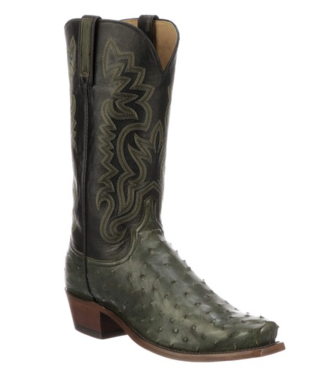 Lucchese Green western boot