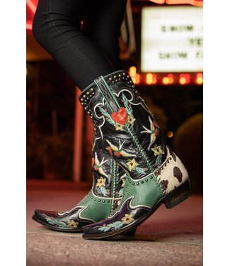 Old Gringo- Double D Ranch Exklusiver Westernstiefel Midnight Cowboy