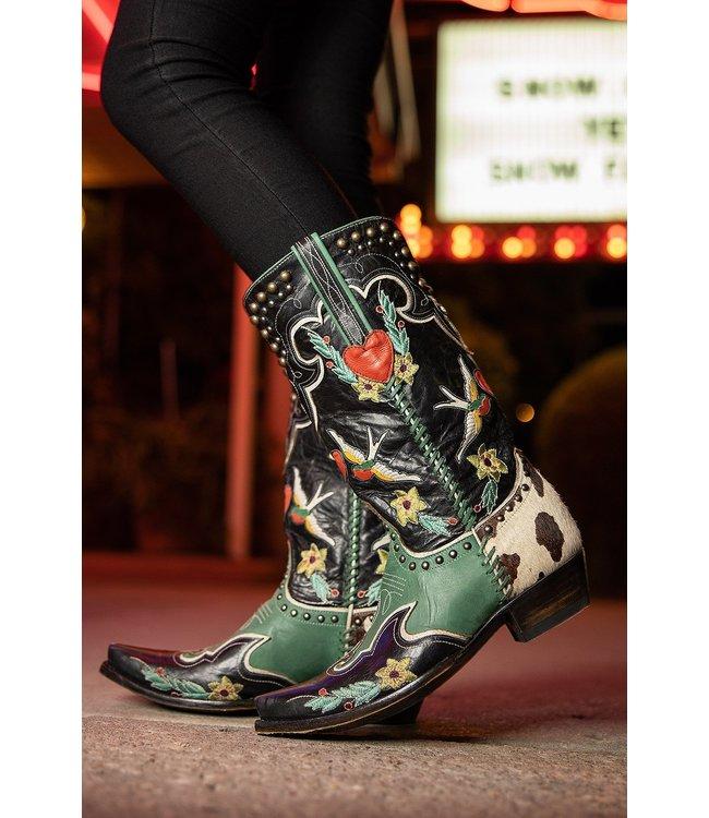 Old Gringo- Double D Ranch Exclusieve westernlaars Midnight Cowboy