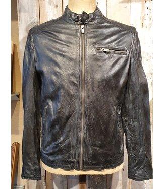 Milestone Black leather jacket Stevens