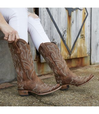 Lane Brown  leather western boots
