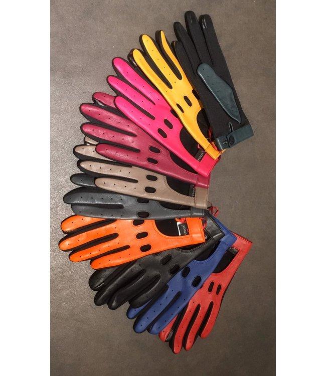 Kessler Anthraciet leren handschoen
