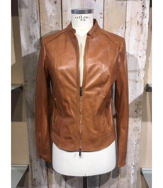 Milestone Brown leather jacket  Claudia