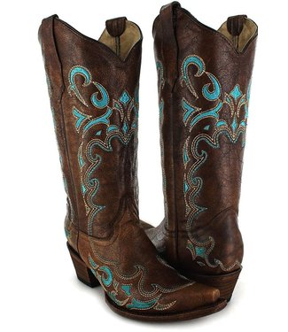 Circle G by Corral Brown  leather western boot