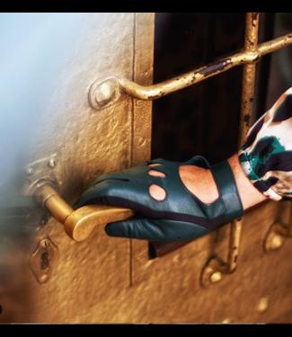 Kessler Dunkelgrüner Lederhandschuh