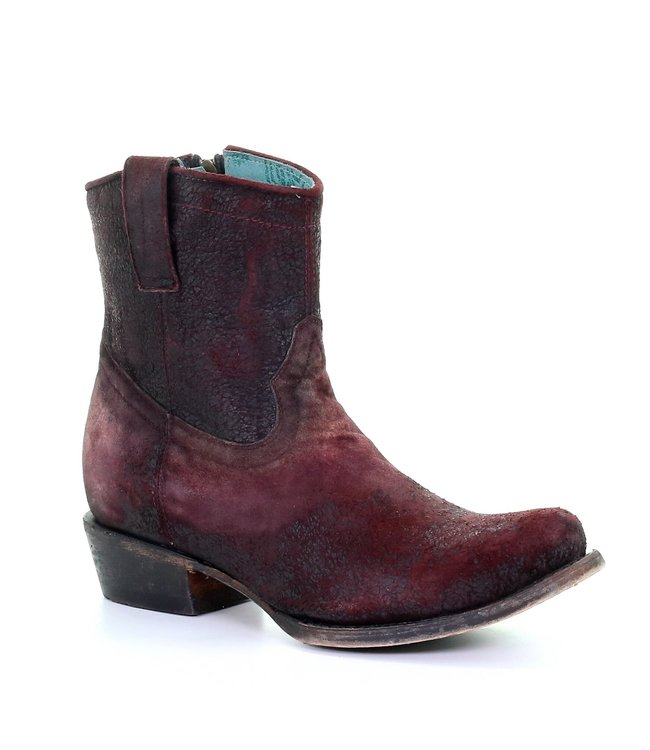 Corral  Purple  lamb leather ankle boots
