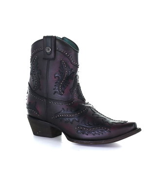 Corral  Purple leather low boot
