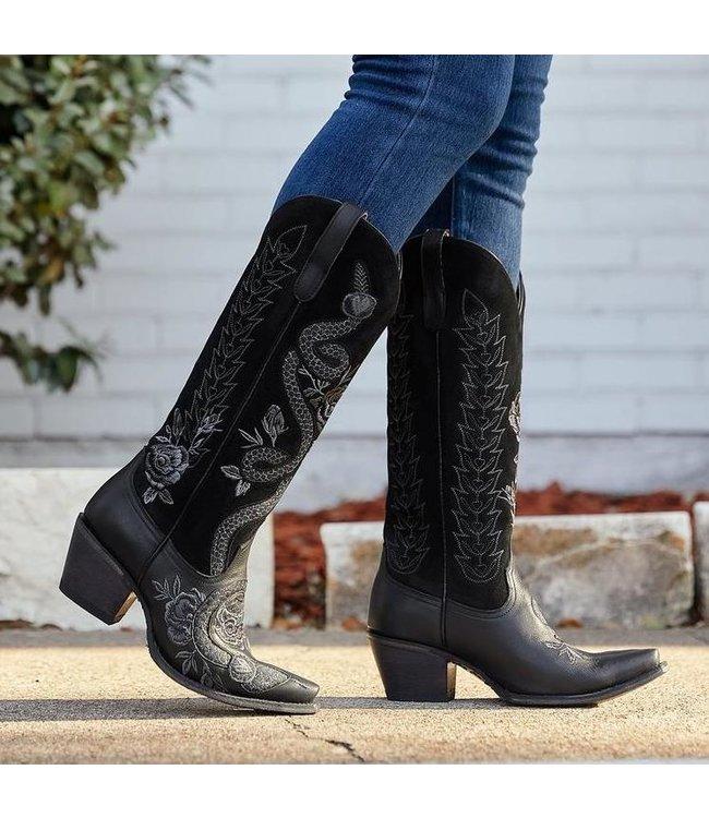 Tall Black Cowboy Boot | Junk Gypsy